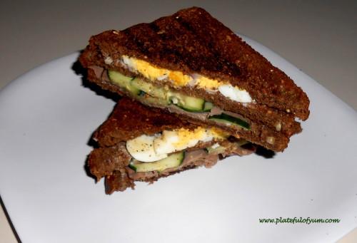 Cucumber egg sandwich