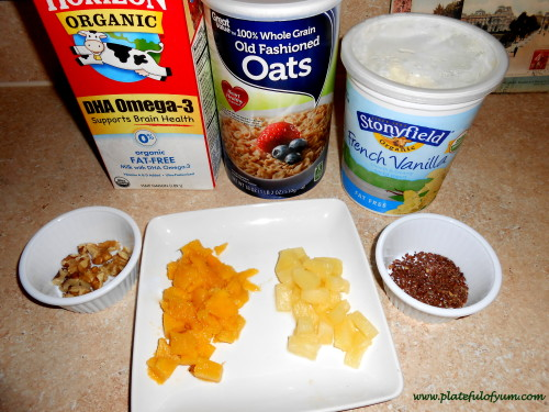 Mango Overnight Oatmeal Ingredients