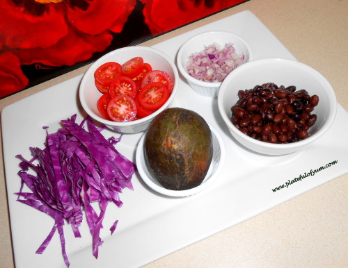 Quesadilla food prep