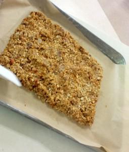 Oatmeal granola bar