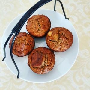 banana nut hemp seed muffins